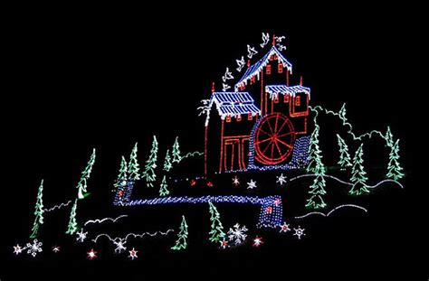 christmas light display in gatlinburg tn flickr photo