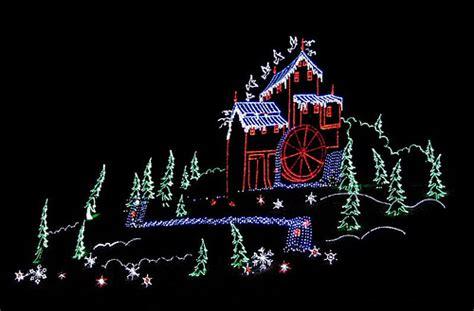 christmas light display in gatlinburg tn flickr photo