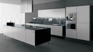 trendy black and white kitchen table interior decosee