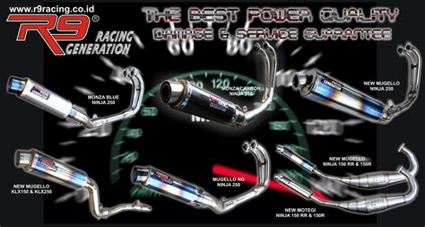 Knalpot Racing Shogun R Smash R I One Balap Pelangi air septa s speed shop