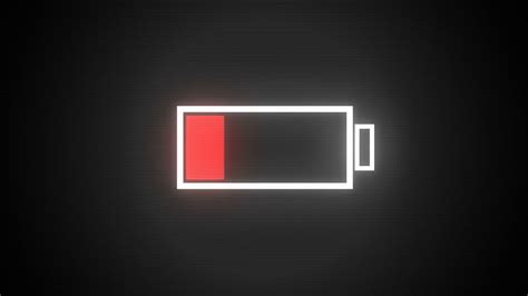 Low Batteries low battery in digital landscape version 2 motion
