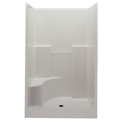 Shower Stalls With Seat by Aquatic Everyday 60 In X 35 In X 76 In Center Drain