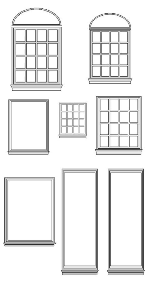 windows templates 1000 images about dolls house printables doors windows