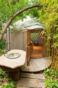 Backyard Yurt California Modern Backyard Yurt Outdoors For The Home