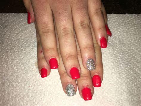 red gel nails ideas  pinterest red summer