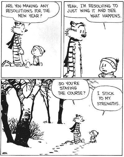 calvin and hobbes new years resolution new years resolution calvin and hobbes how the hell did