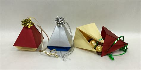 origami ornament tree box