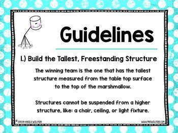 marshmallow challenge instructions marshmallow challenge stem and team building activity