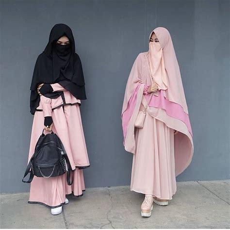 Baju Muslim Syari Elegan 17 Model Baju Muslim Syar I 2018 Terbaru Stylish Modis Dan
