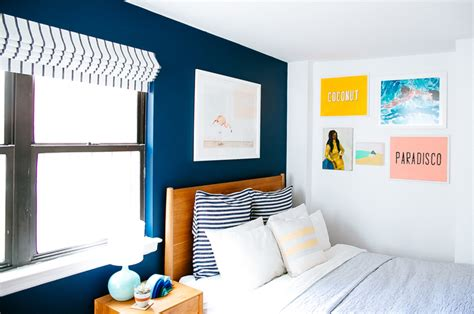 beautifully bold bedroom 10 best bedroom makeovers bbbrownstone bedroom makeover no 2 bold blues bright