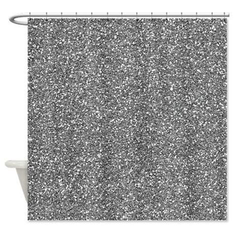 grey sequin curtains silver grey glitter shower curtain on cafepress com