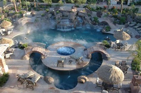 backyard waterpark 37 diverse backyard swimming pool ideas photos