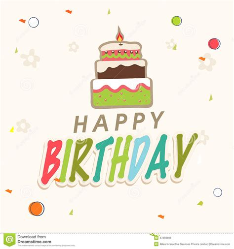 happy birthday invitation design happy birthday invitation card design stock illustration