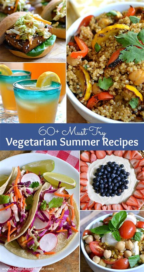 60 vegetarian summer recipes