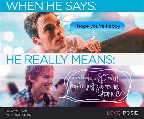 quotes film love rosie love rosie quote love rosie pinterest