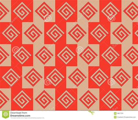 alternating pattern in math pop art alternate greeks pattern red beige stock images