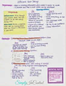 Note taking tips and strategies