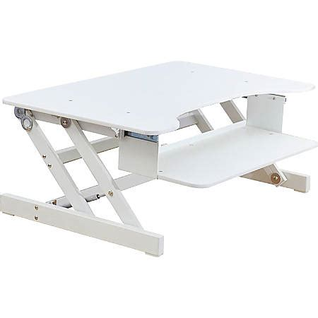 lorell sit to stand desk riser lorell sit to stand desk riser white by office depot