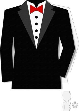 Tuxedos Chocolate Buttons And Paper Cones On Pinterest Paper Tuxedo Template