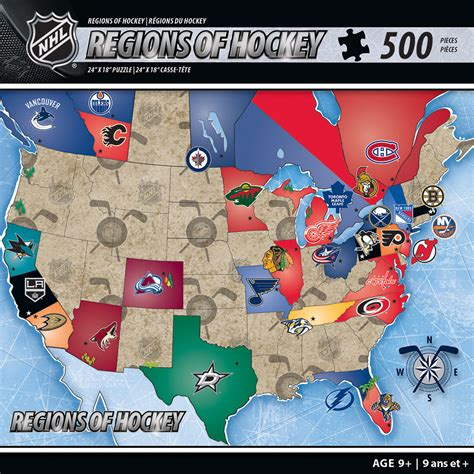 nhl map nhl usa map jigsaw puzzle puzzlewarehouse