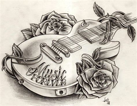 WillemXSM : Dessins, tatouages Et guitares !   Guitar Wink