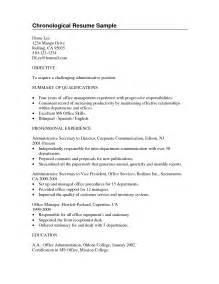 Resume Objective Vs Summary by Summary Of Qualifications Template For Summary Of Qualifications Sle Resume For Sle