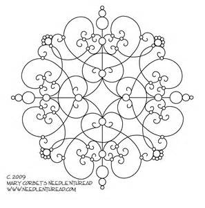 Embroidery Templates by Free Embroidery Pattern Another Scrolly Medallion