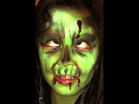 zombie painting tutorial zombie face paint design video tutorial youtube