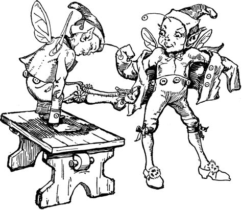 coloring page elves and the shoemaker elves coloring pages