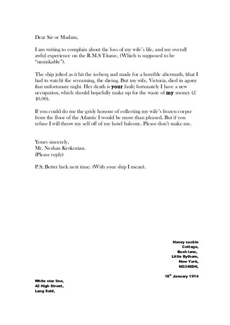 Complaint Letter Regarding Garbage Whole Class Of Letters Complaint Nov2014
