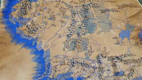 A Middle Earth Album the of a map of middle earth