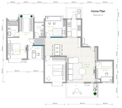 Free Home Design Services Visio Home Plan Template Free