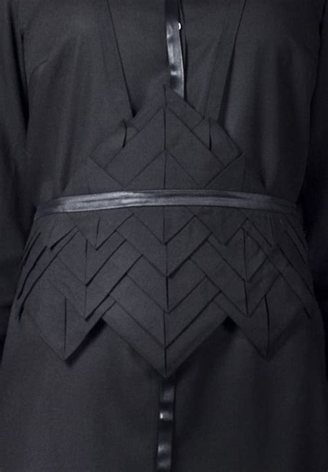 Origami Factory - origami belt using fabric manipulation to create textures