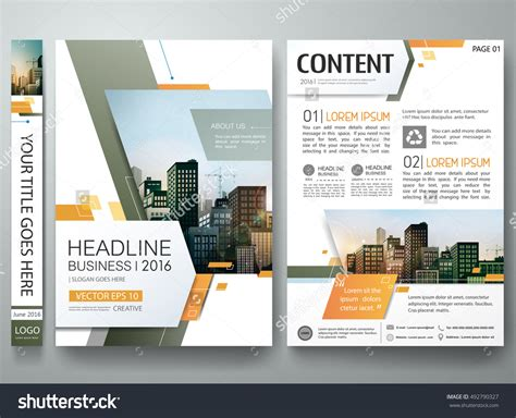 poster abstract layout brochure design template vector green abstract minimal
