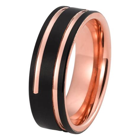 Band Ring by Mens Gold Wedding Band Tungsten Wedding Rings