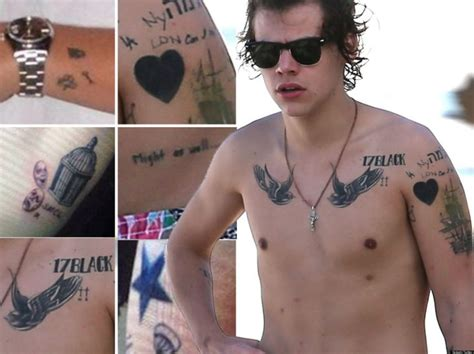 harry styles tattoos 2014 20 famous celebrities with their attractive tattoos