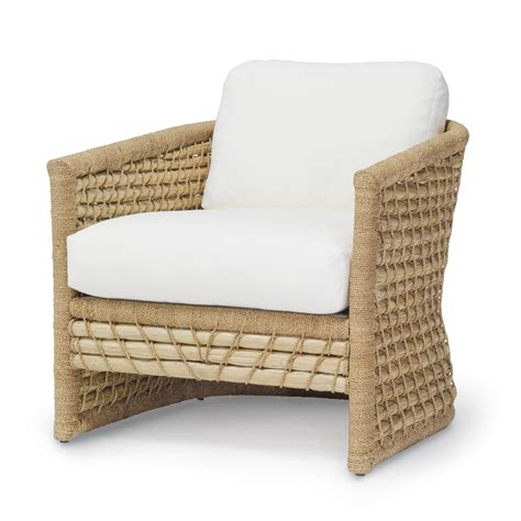 White Wood Coffee Table Seagrass Woven Back Club Chair Mecox Gardens