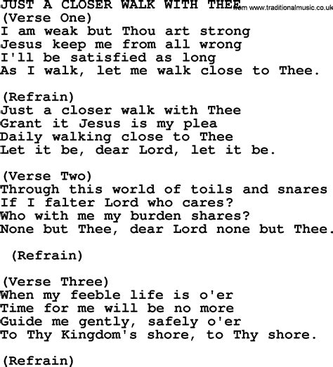 printable lyrics to just a closer walk with thee just a closer walk with thee pictures