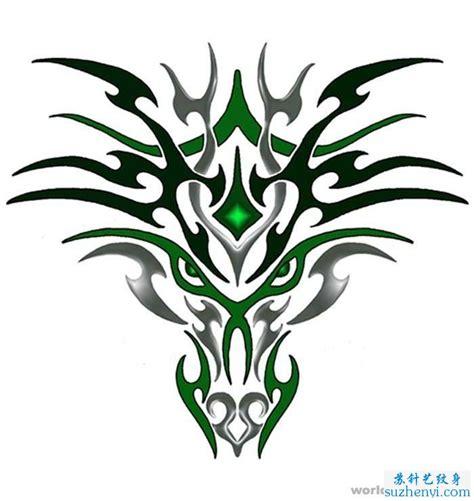 图腾狼纹身图案图片