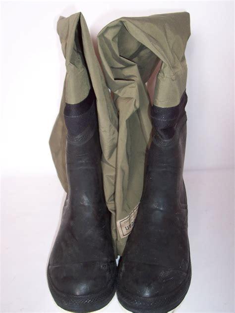 ll bean hip waders thigh high fishing waders boots size 10