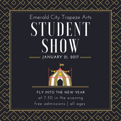 january 2017 new year new year student show january 21 2017 emerald city