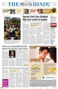 newspaper the hindu india newspapers in india monday s