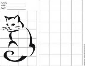 grid drawings templates 95 best images about grid on cat outline