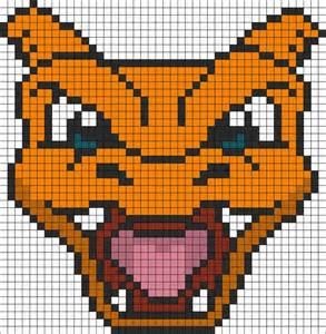charizard template pixel templates charizard www pixshark