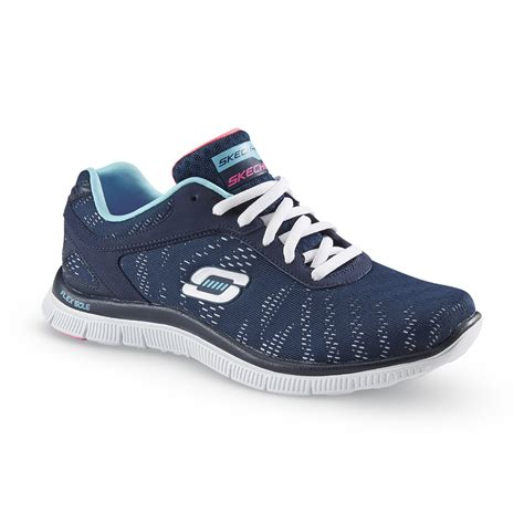 womens navy sneakers upc 888222363697 skechers s glance stretch