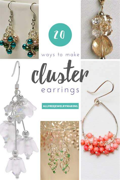 how to make beaded jewelry earrings how to make cluster bead earrings 20 ways