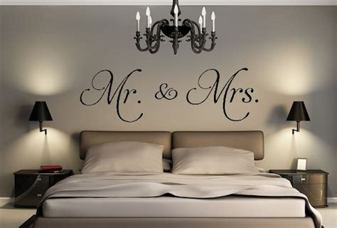 mr mrs decal removable wall sticker and decor for home