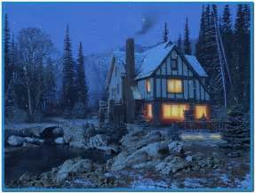 winter cottage 3d winter cottage screensaver free
