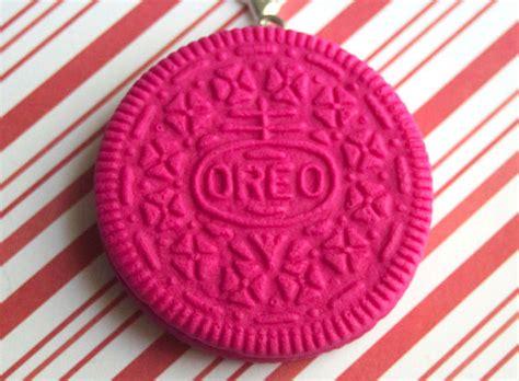 Oreo Sweater Pink pink oreo charm kawaii polymer clay charms miniature food