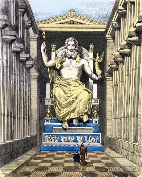 statue of zeus at olympia seven wonders of the ancient